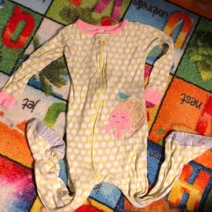 Euc Carter's 24 month footie pajamas. Hermit crab